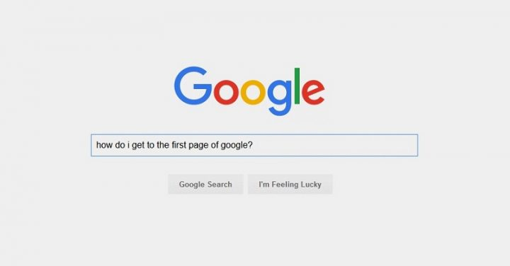 First Page Of Google